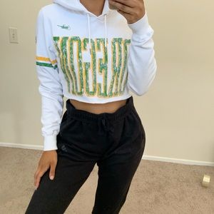 Oregon ducks crop hoodie